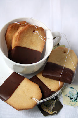 Lindos e saborosos cookies em formato de saquinho de chá