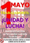 Manifestación 1 Mayo Segovia