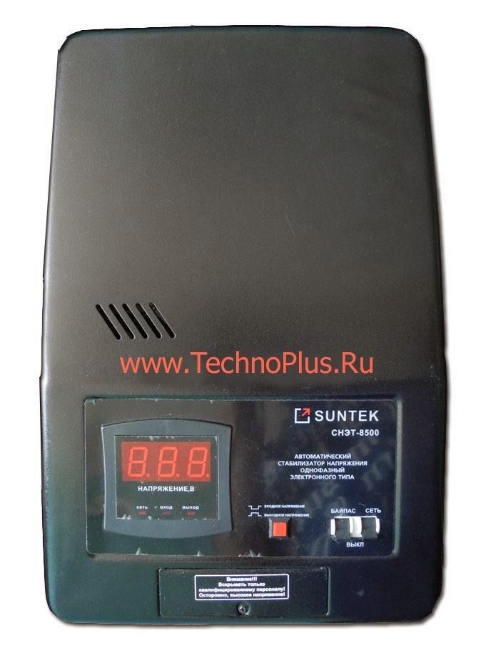 Стабилизатор напряжения SUNTEK СНЭТ-11000 ВА (9900 Вт) для качественной работы устройств и бытовых приборов в квартирах и домах