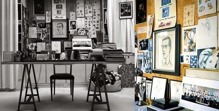 Workspaces Of The Greatest Artists Of The World (38 Pictures) - Yves Saint Laurent, fashion designer