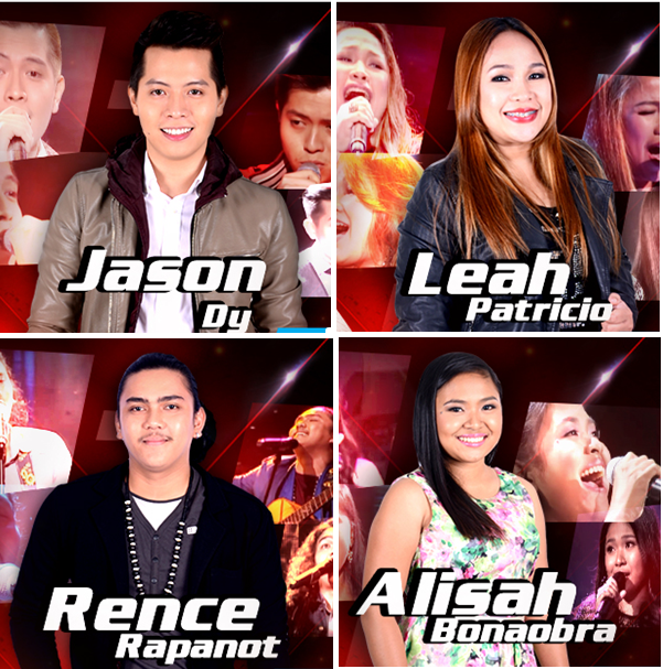 "Alisah, Jason, Rence or Leah for ""Voice of the Philippines"" Grand Winner"