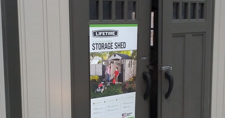 Lifetime Products Storage Shed Costco Weekender