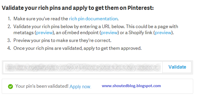 Add Pinterest Rich Pins In Your Blogger Blog