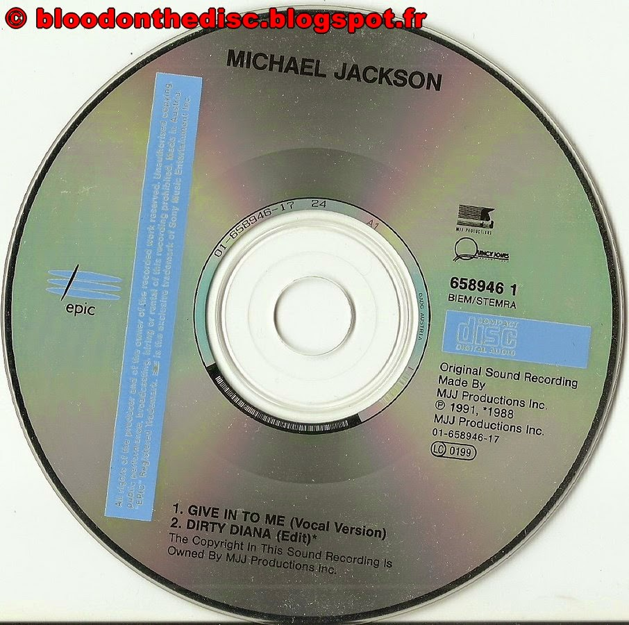 Give In To Me CD