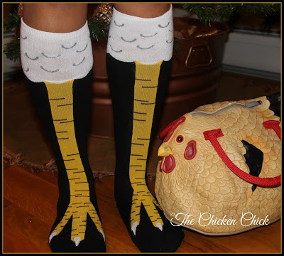 Chicken legs socks on Amazon