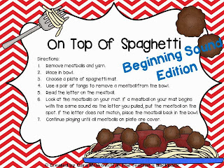http://www.teacherspayteachers.com/Product/On-Top-Of-Spaghetti-Beginning-Sound-Edition-831922