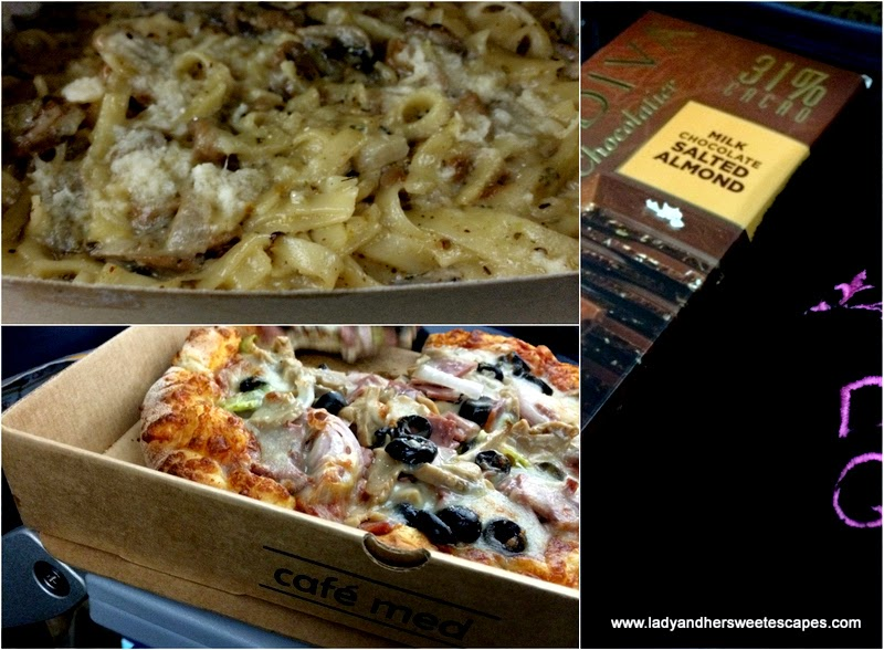 take-away food from Sharjah International Airport food court