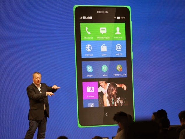 Nokia X Android Dual SIM Smartphone (Image source: NDTV Gadgets) | topicswhatsoever.blogpsot.com