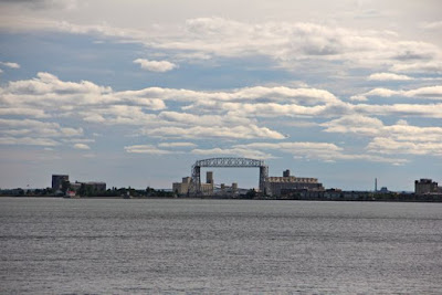 Duluth Harbor from Lake Superior