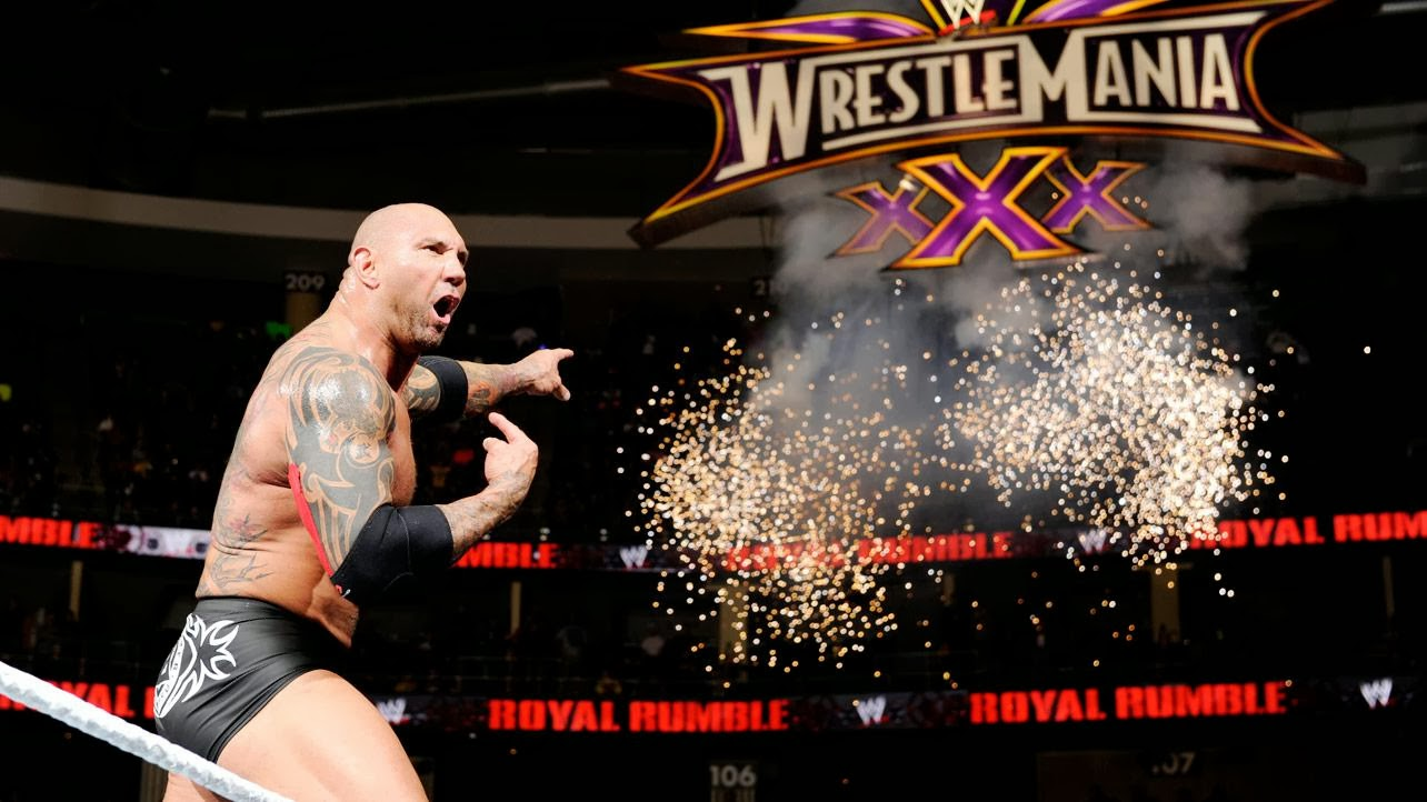 Batista on his way to WrestleMania XXX
