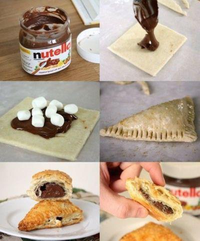 PAP (DIY) pastel folhado de nutela