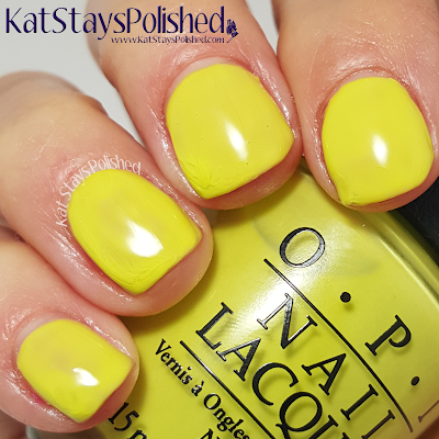 OPI Neons - Life Gave Me Lemons | Kat Stays Polished