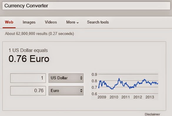 Search Page Currency Converter by Google