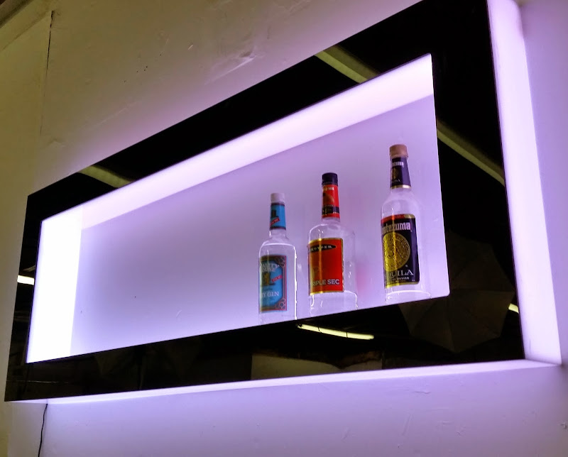 Floating Wall Shelf with Lights