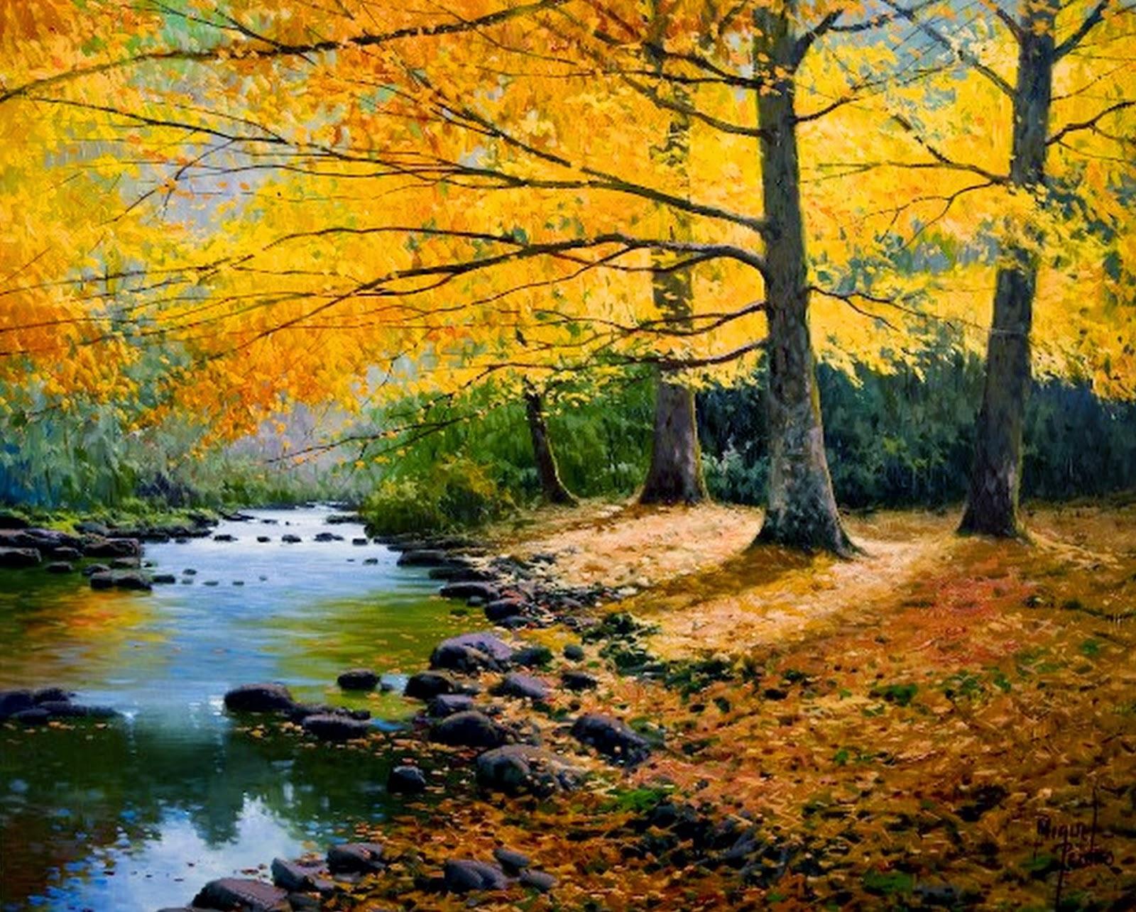 Im genes arte pinturas cuadros de paisajes naturales - Pintores en asturias ...