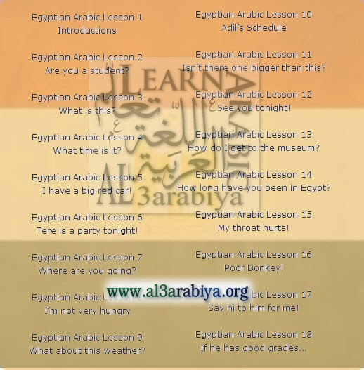 Egyptian Colloquial: 18 Lessons For Beginners