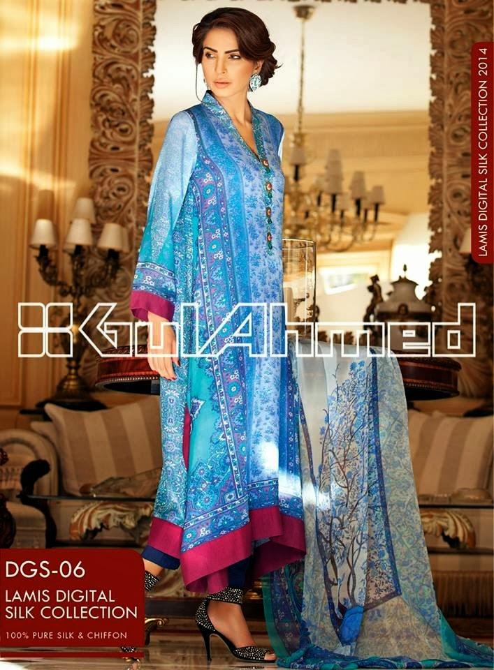 GulAhmedLamisDigitalSilkCollection2014 wwwfashionhuntworldblogspotcom 05 - Gul Ahmed Lamis Digital Silk Collection 2014