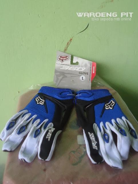 Jual Kaos tangan sarung tangan Fox 360 glove merah sepeda mtb bmx gunung murah biru