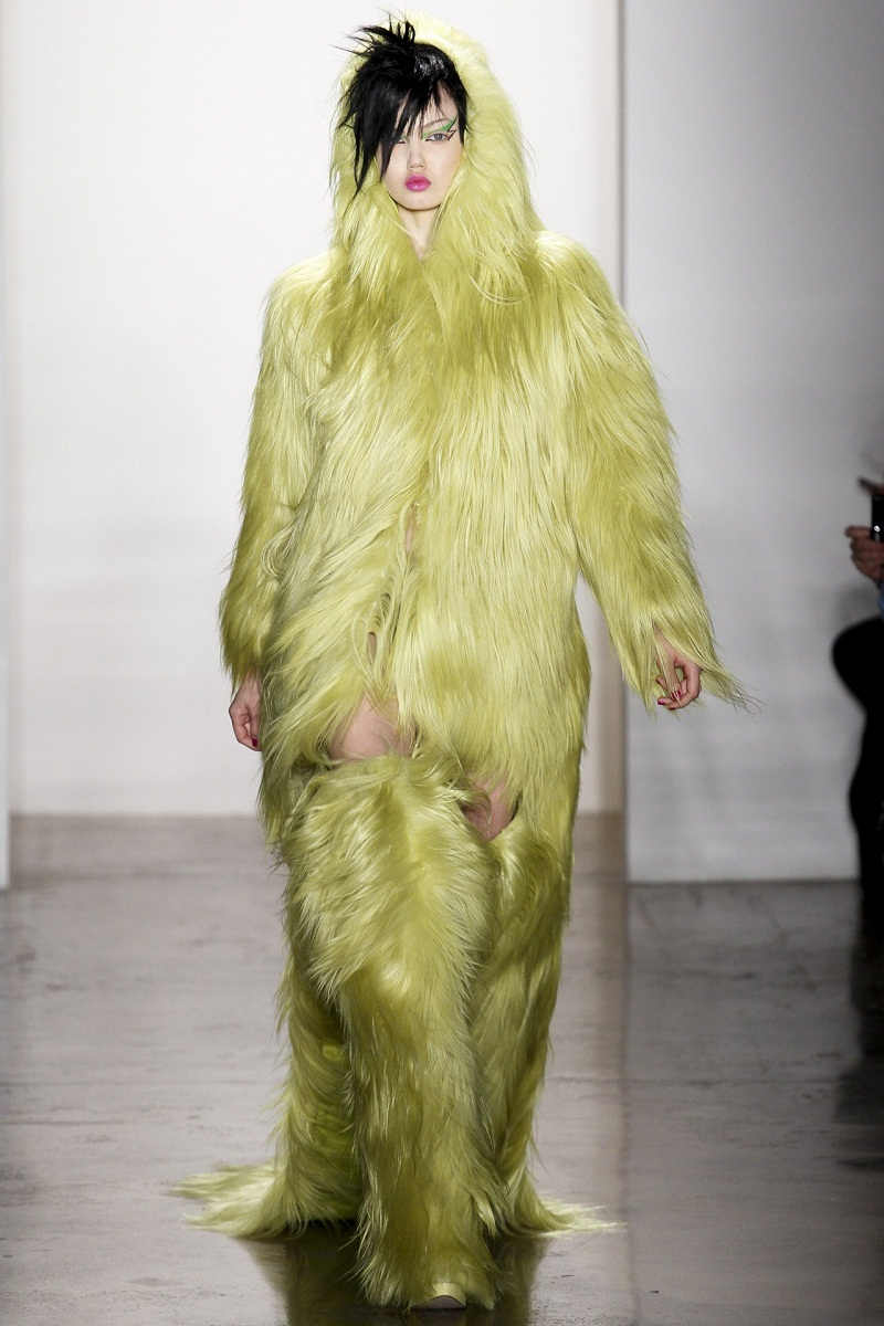 Jeremy Scott, New York Fashion Week, Fall/Winter 2013/14, furry monster, Monsters Inc, Yo Gabba Gabba, fashion