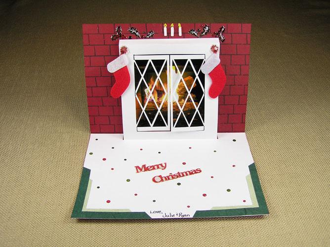Christmas Cards With Windows Christmas Window Pop up Card