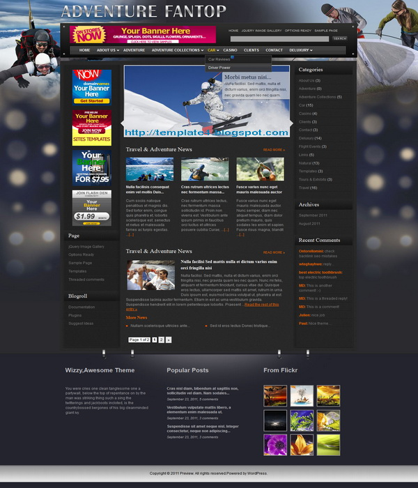 Adventure Fantop WordPress Theme