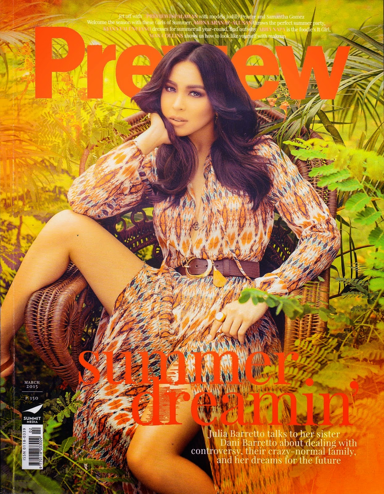 Actress @ Julia Barretto by Bj Pascual for Preview, March 2015