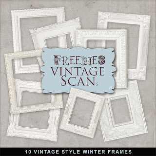Scrapbook Winter Frames Vintage Styles