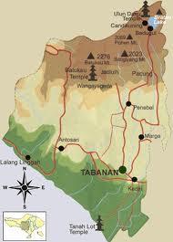 Peta Kabupaten Tabanan