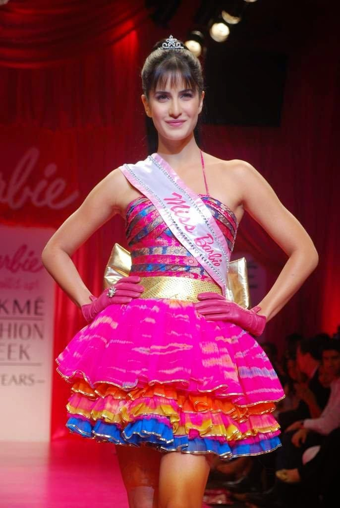 Katrina Kaif walking on ramp as Barbie Doll