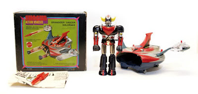"Mattel Shogun Warriors 5"" Grendizer w/Saucer - Goldrake"