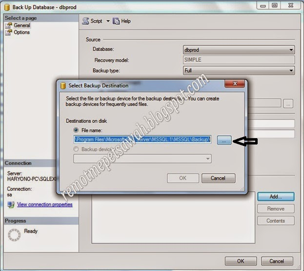 DATABASE BACK UP IN SQL SERVER | TIPS SEPUTAR SISTEM INFORMASI