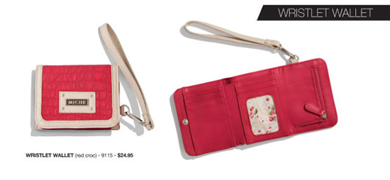 Miche January 2013 Product Release - Red Croc Wristlet Wallet