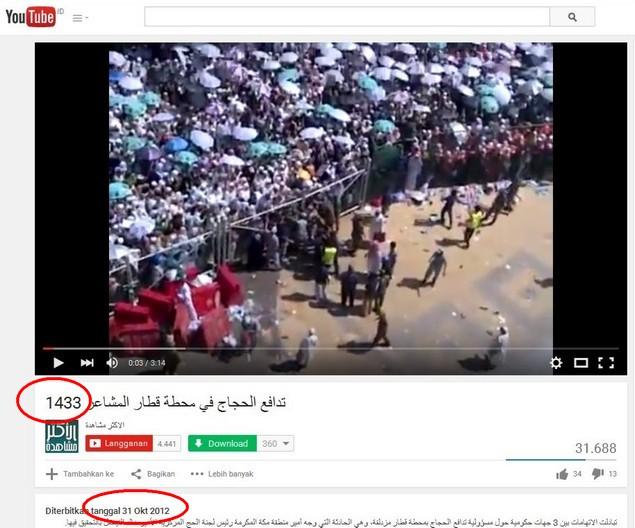 Video Haji 2012 yang digunakan pihak Syiah untuk menuding Wakil Putera Mahkota Saudi (Foto: Piyungan Online)