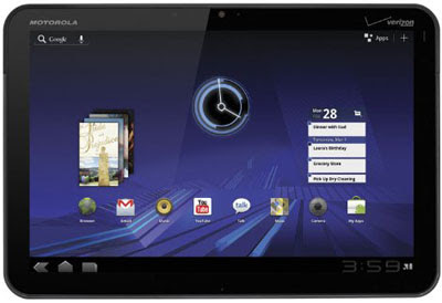 Motorola Xoom with Android 3.2 Honeycomb update for Europe