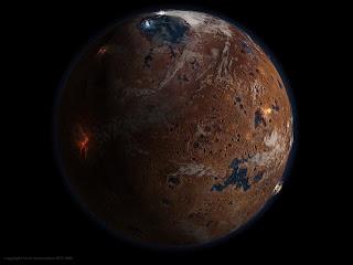 Марс на рубеже пренойской и нойской эр