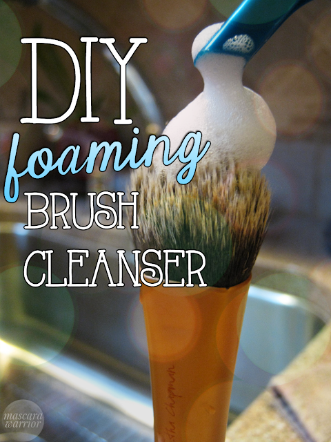 Make your own gentle foaming makeup brush cleanser! It's easy on both the hands and the wallet.