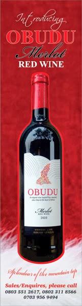 Obudu Merlot Wine