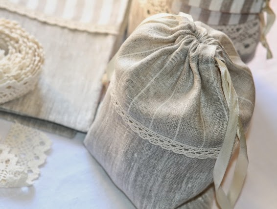 linen bags for presents and berbs, almaty