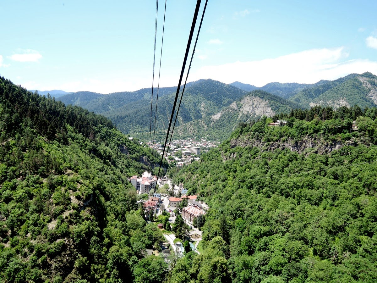 Вид на Боржоми сверху