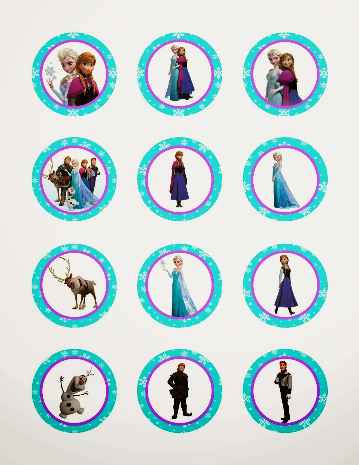 Frozen: Free Printable Toppers. | Is it for PARTIES? Is it ...