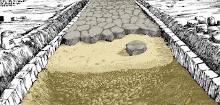 Calzada romana - recreación