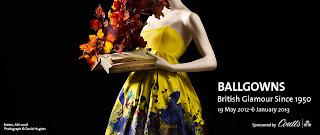 V&A museum ballgowns british glamour