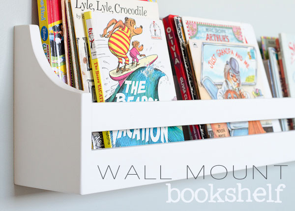 when we started redoing our daughters room i knew i wanted to add some wall mounted bookshelves for all of her our books so i started looking around - Bookshelves Wall Mounted