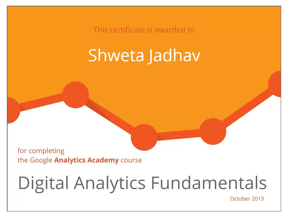 Google Analytics Digital Marketing certificate