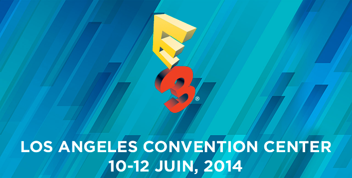 Visuel de l' E3 2014 au LOS ANGELES CONVENTION CENTER du 10 au 12 Juin.