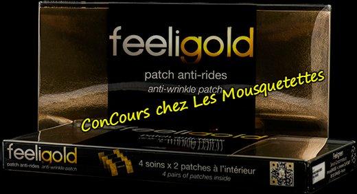 Concours 4 coffrets de patchs anti-rides Feeligold - Les Mousquetettes