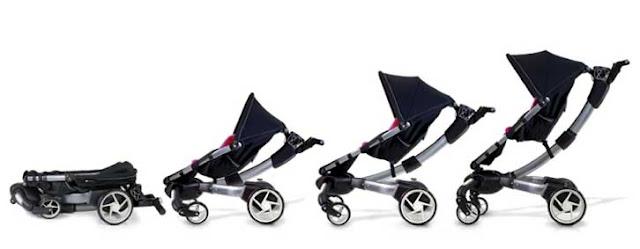 4moms Origami 電動摺疊嬰兒推車