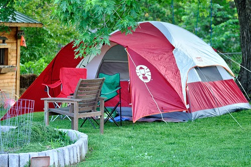 Backyard camping ideas; backyard camping tips; backyard ideas