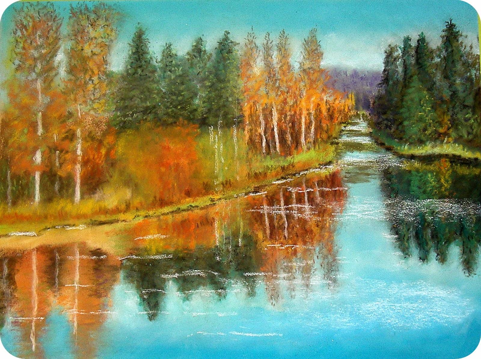Micka lle delam cours dessin et peinture marmande - Paysage d automne dessin ...