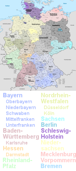 Regions Visited Germany